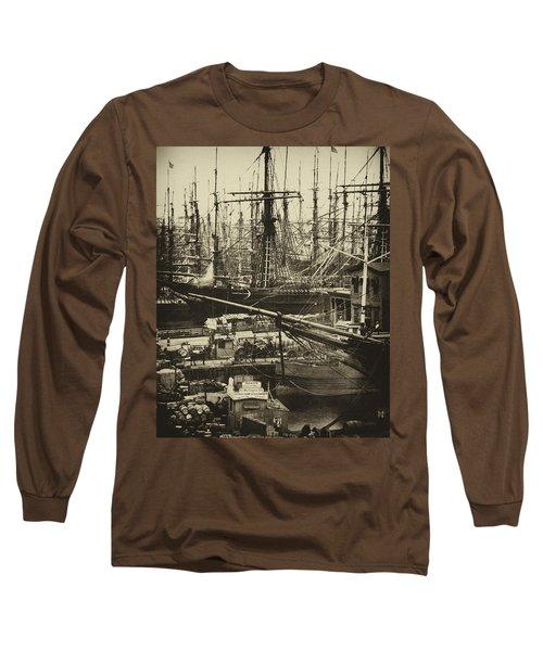 New York City Docks - 1800s Long Sleeve T-Shirt
