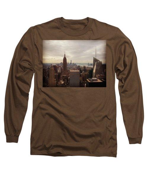New York City Skyline Long Sleeve T-Shirt by Lush Life Travel