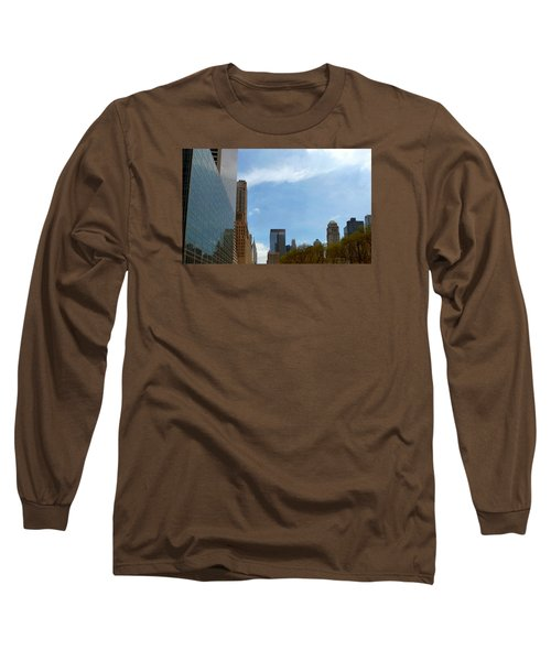 Long Sleeve T-Shirt featuring the photograph New York by Helen Haw