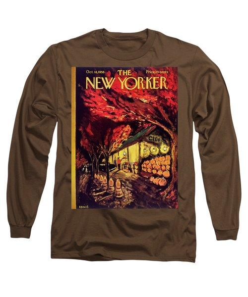 New Yorker October 18 1958 Long Sleeve T-Shirt