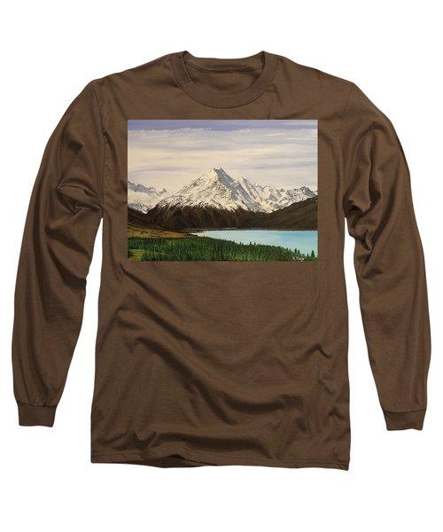 New Zealand Lake Long Sleeve T-Shirt