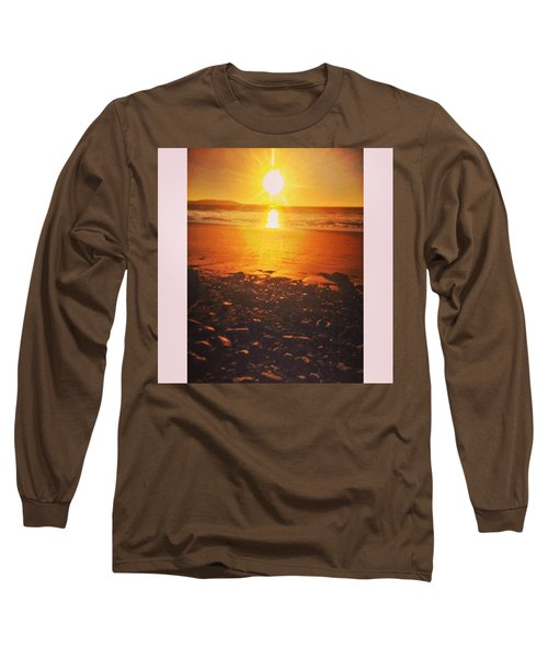 Nice Glow To The Beach. #beach #sunset Long Sleeve T-Shirt