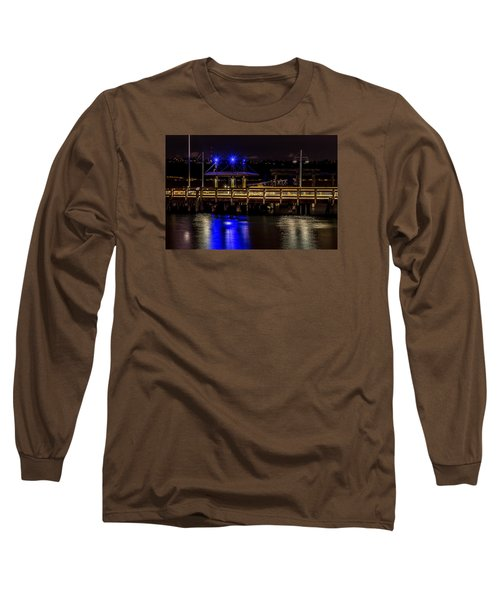 Night Falls On Old Town Pier Long Sleeve T-Shirt by Rob Green