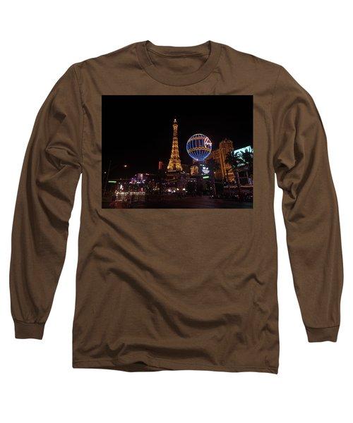 Night In Vegas Long Sleeve T-Shirt