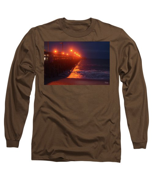 Night Pier Long Sleeve T-Shirt by Gordon Mooneyhan