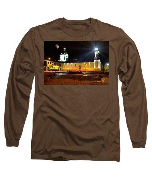 Nighttime At San Sebastian Long Sleeve T-Shirt by Al Bourassa