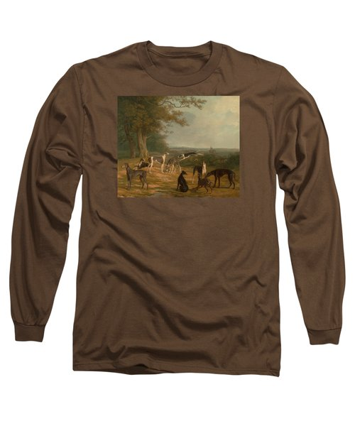 Nine Greyhounds In A Landscape Long Sleeve T-Shirt