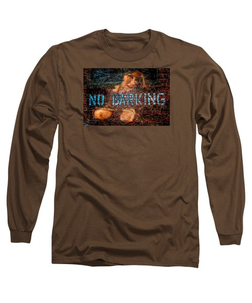 Long Sleeve T-Shirt featuring the photograph No Barking by Harry Spitz