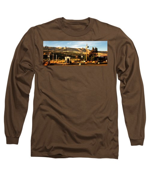 Long Sleeve T-Shirt featuring the photograph No Gas... by Albert Seger