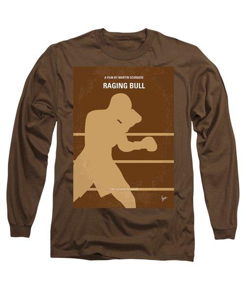 No174 My Raging Bull Minimal Movie Poster Long Sleeve T-Shirt