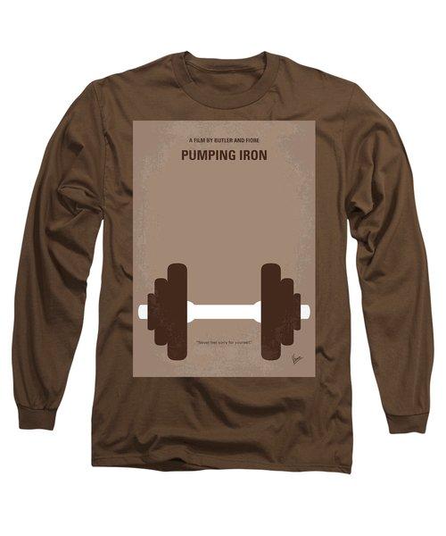 No707 My Pumping Iron Minimal Movie Poster Long Sleeve T-Shirt by Chungkong Art