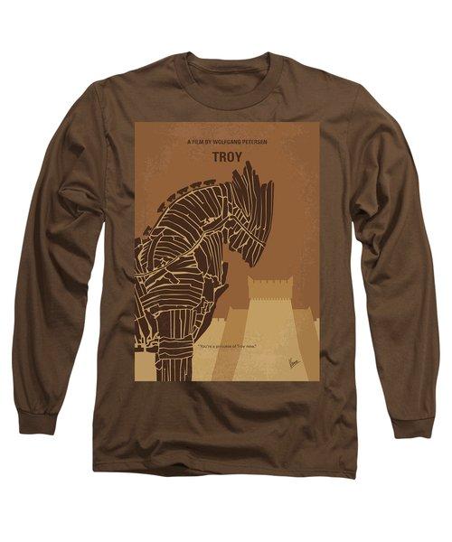 No862 My Troy Minimal Movie Poster Long Sleeve T-Shirt