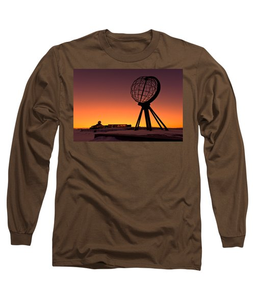 North Cape Norway At The Northernmost Point Of Europe Long Sleeve T-Shirt by Ulrich Schade