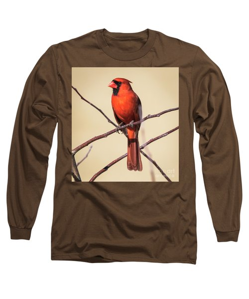 Northern Cardinal Profile Long Sleeve T-Shirt