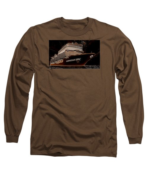 Long Sleeve T-Shirt featuring the photograph Norwegian Epic by Mario Carini