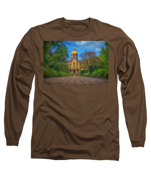 Notre Dame University Q2 Long Sleeve T-Shirt