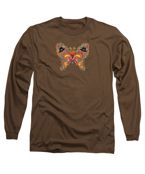 November Butterfly Of The Month Long Sleeve T-Shirt by Laurel Rosenberg