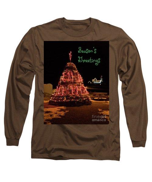 Nubble Light - Season's Greetings Long Sleeve T-Shirt