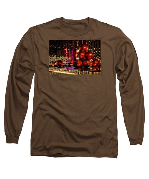 Long Sleeve T-Shirt featuring the photograph Nyc Holiday Balls by Chris Lord