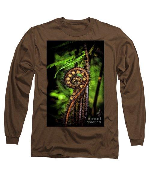Nz Koru Long Sleeve T-Shirt by Karen Lewis