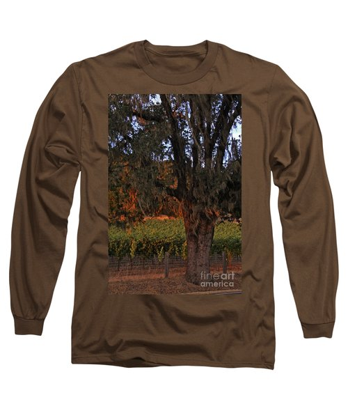 Oak Tree And Vineyards In Knight's Valley Long Sleeve T-Shirt