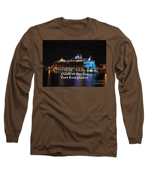Long Sleeve T-Shirt featuring the photograph Oasis Of The Seas by Gary Wonning