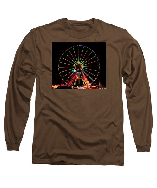 Oc Pier Ferris Wheel At Night Long Sleeve T-Shirt
