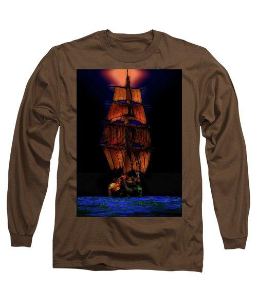 Ocean Glow Long Sleeve T-Shirt by Michael Cleere