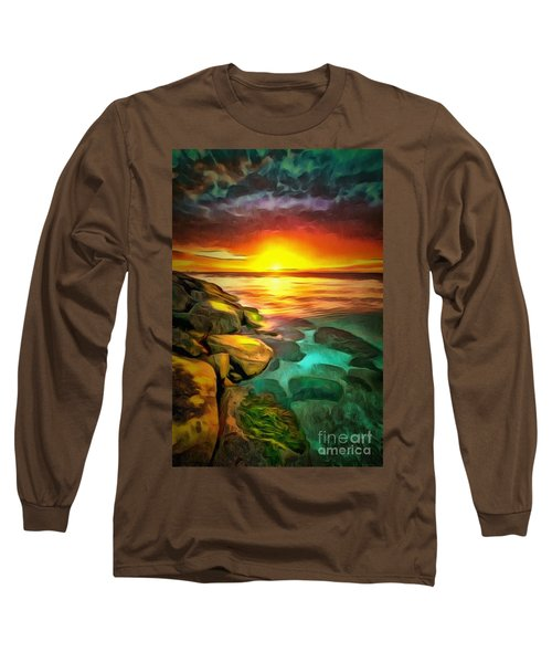 Ocean Lit In Ambiance Long Sleeve T-Shirt