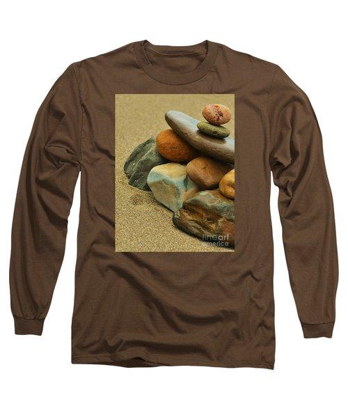 Long Sleeve T-Shirt featuring the photograph Ocean's Art by Pamela Blizzard