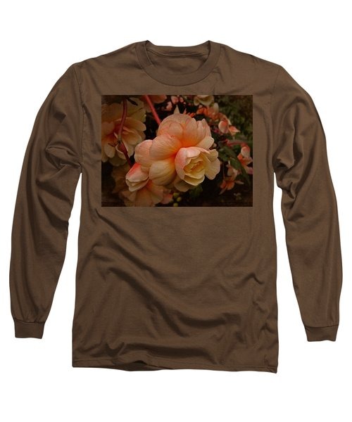 Long Sleeve T-Shirt featuring the photograph Vintage Begonia No. 2 by Richard Cummings