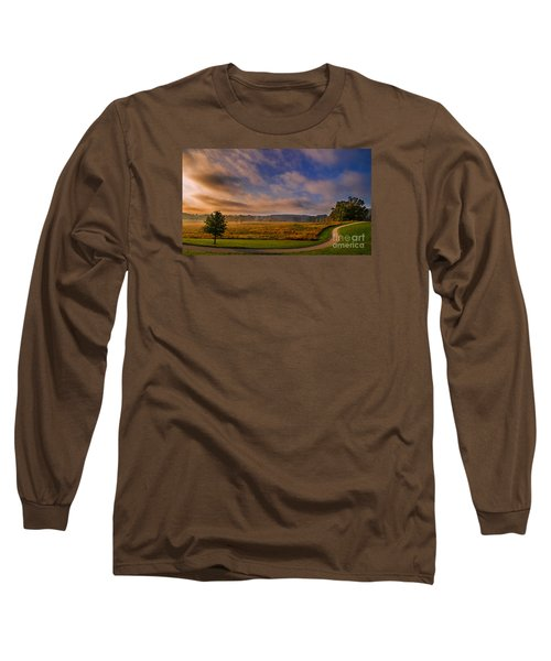October Morning At Valley Forge Long Sleeve T-Shirt by Rima Biswas