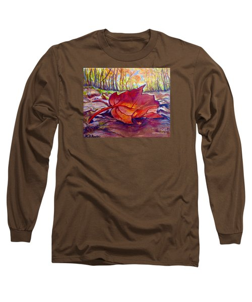 Ode To A Fallen Leaf Painting Long Sleeve T-Shirt by Kimberlee Baxter