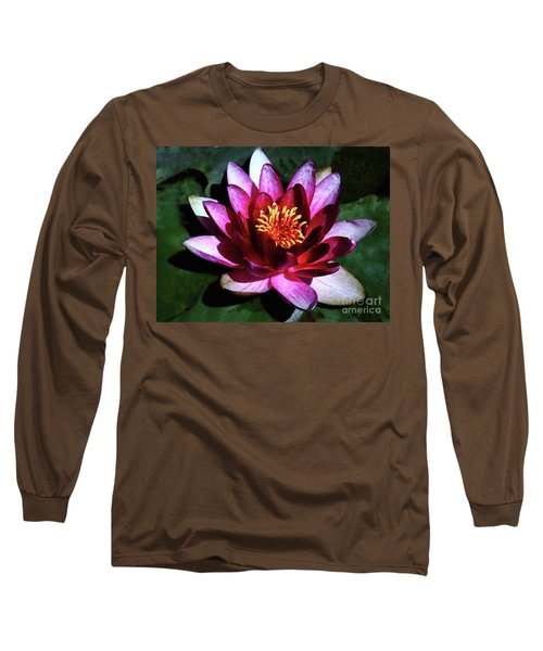 Ode To The Water Lily Long Sleeve T-Shirt by Polly Peacock