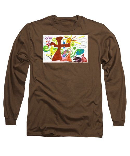 Oh Holy Night Long Sleeve T-Shirt by Martin Cline