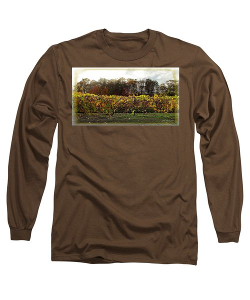 Long Sleeve T-Shirt featuring the photograph Ohio Winery In Autumn by Joan  Minchak