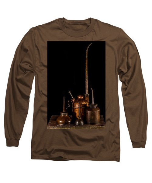 Long Sleeve T-Shirt featuring the photograph Oil Cans by Paul Freidlund