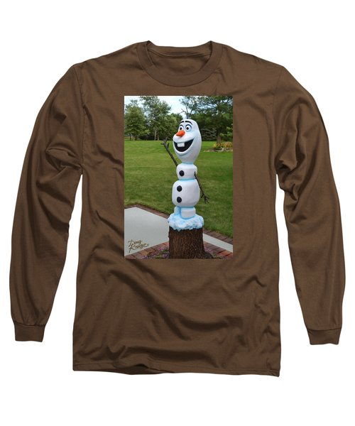 Olaf Wood Carving Long Sleeve T-Shirt by Doug Kreuger