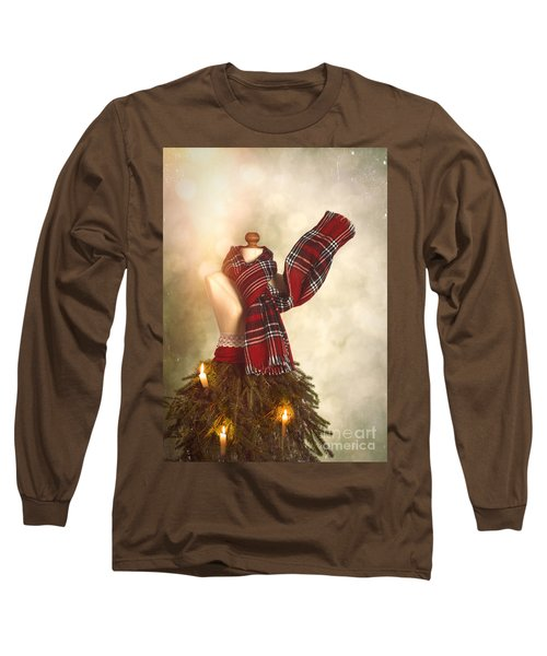 Old Fashioned Christmas Tree Long Sleeve T-Shirt