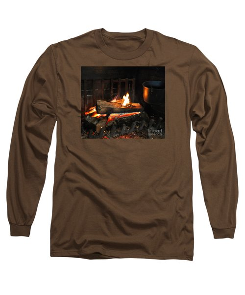 Old Fashioned Fireplace Long Sleeve T-Shirt
