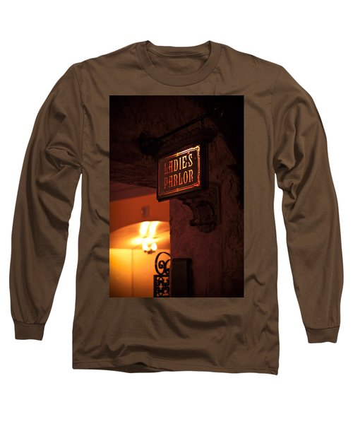 Long Sleeve T-Shirt featuring the photograph Old Fashioned Ladies Parlor Sign by Carolyn Marshall