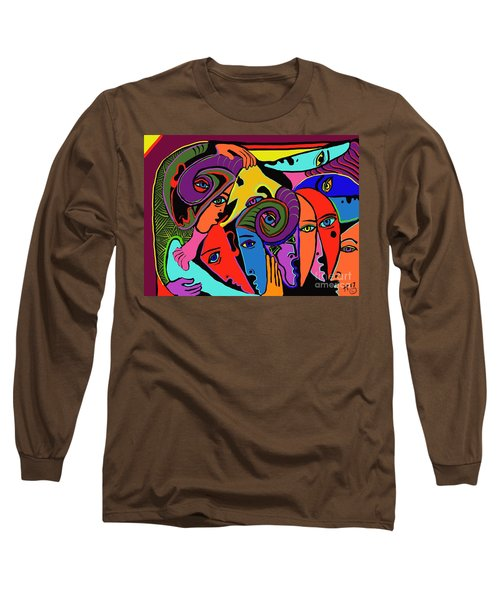 Old Friends Long Sleeve T-Shirt by Hans Magden