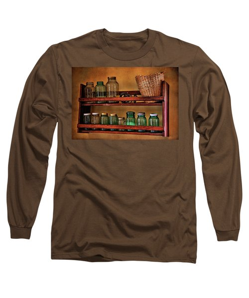 Long Sleeve T-Shirt featuring the photograph Old Jars by Lana Trussell