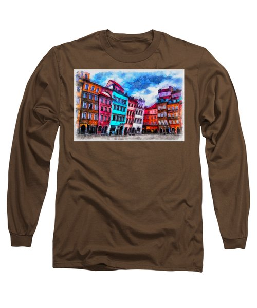Old Town In Warsaw #11 Long Sleeve T-Shirt