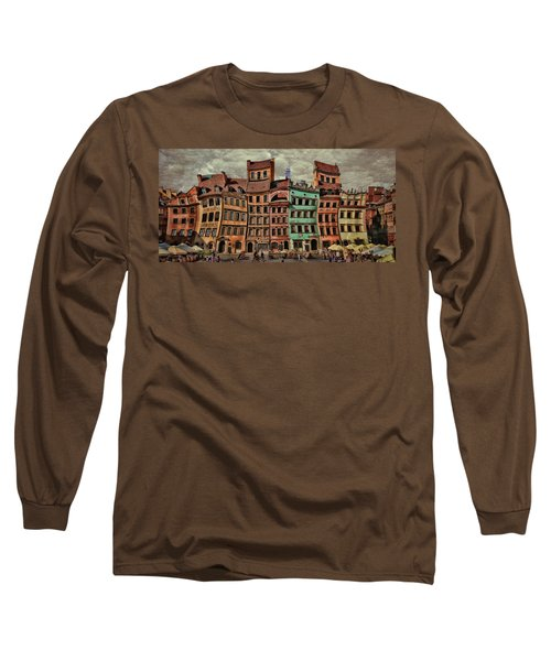 Old Town In Warsaw #15 Long Sleeve T-Shirt