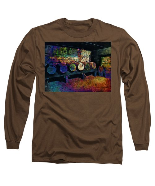 Long Sleeve T-Shirt featuring the digital art Old Wine Barrels by Glenn McCarthy Art and Photography