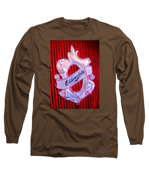 Long Sleeve T-Shirt featuring the photograph Oldsmobile Emblem. by John King