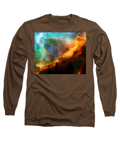 Omega Swan Nebula 3 Long Sleeve T-Shirt by Jennifer Rondinelli Reilly - Fine Art Photography