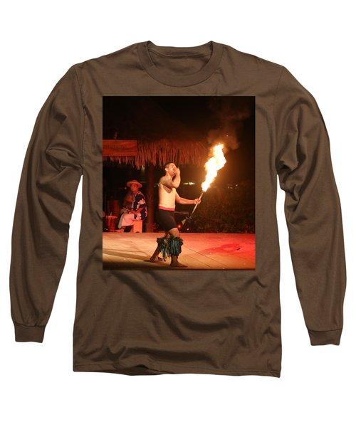 On Fire In Tahiti Long Sleeve T-Shirt