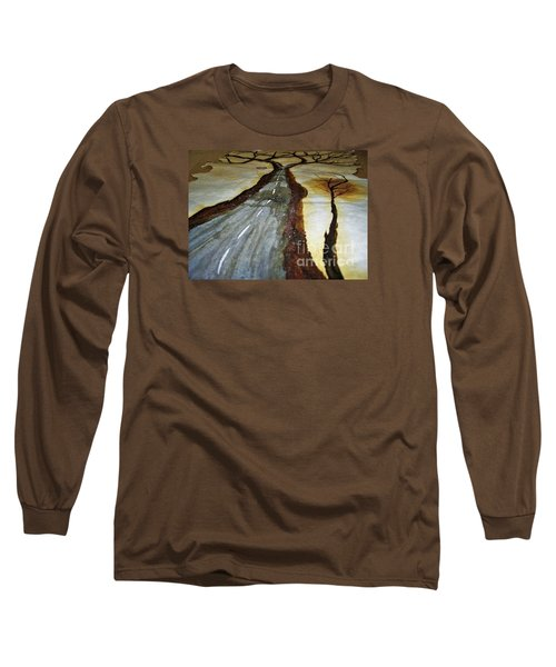 On The Road Of The Tree Of Life Long Sleeve T-Shirt by Talisa Hartley